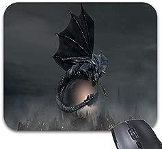 Mousepad Black Dragon Pattern Print Mouse Mat Non-Slip Rubber(9.25 X 7.75)