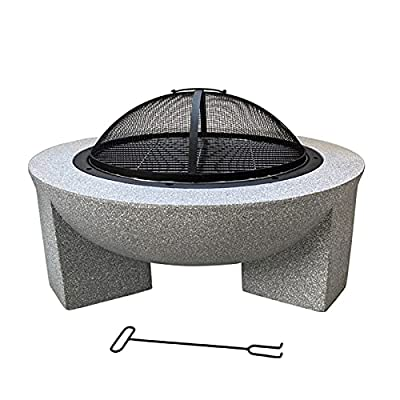 Fire Pit Outdoor Wood-Burning fire Pit, 30-inch Courtyard fire Pit, with Sparkle Screen, Poker, Garden fire Pit from Lijack