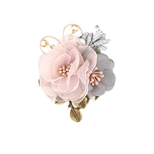 MISOAMISO コサージュ レディース 大人 子供 兼用 花 フォーマル 入園式 入学式 結婚式 発表会 コサージュ ブローチ パール csg003 (ピンク)