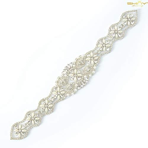 Diamante Shinybeauty de decoración con apliques, de imitación de decoración con apliques