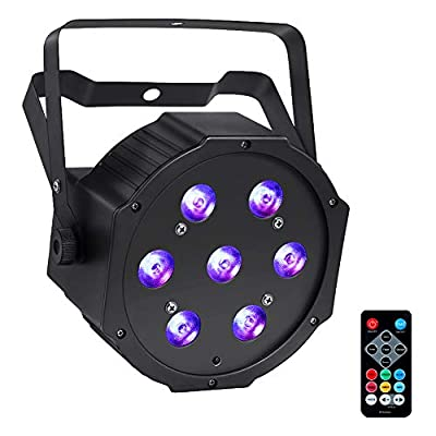LED Stage Lights, YeeSite 70W 7LEDs RGBW 4 in 1 LED Par Can Sound Activated by Remote and DMX Control, LED Uplighting for Wedding DJ Party Stage Lighting