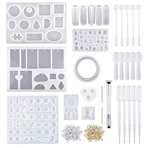 Crafting Silicone Casting Molds and Tools Set, 229 Pieces Jewelry Casting Moulds Tools