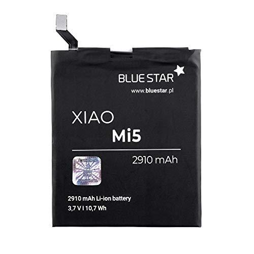 Blue Star Premium - Batería de Li-Ion litio 2910 mAh de Capacidad Carga Rapida 2.0 Compatible con el Xiaomi M5