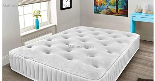 Mattress-Haven Memory Foam Mattress, Sprung Double Mattress With Memory Foam And A Dluxe Knitted Quilted Stretch Fabric, Fast Delivery5FT - Kingsize