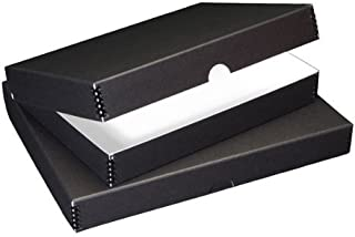 Lineco Clamshell Archival Folio Storage Box 11x17 Inch Size, Black Color