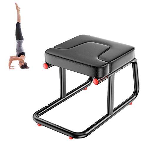 Miwaimao Silla de Banco del Banco de la Cabeza de Yoga Silla de Yoga con Asas, Taburete al revés para la práctica Soporte de Cabeza, Hombro, Handstand, Family and Gym Use
