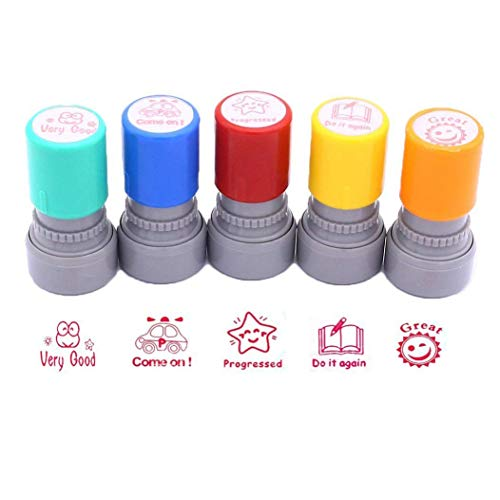 Stamps for School Teachers, Pack of 5 Self-Inking Teacher...