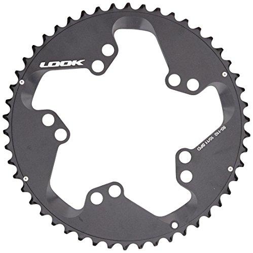 Look Zed 2 - Plata para bicicleta con 39 dientes, 10 y 11 marchas, color negro