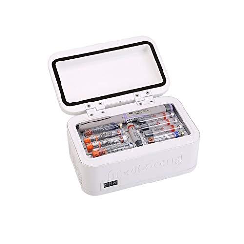 XN Mini nevera Refrigerador de medicamentos y refrigerador de insulina para automóvil, Viaje, hogar - Estuche de refrigeración portátil para automóvil/Caja de Viaje pequeña para medicamentos