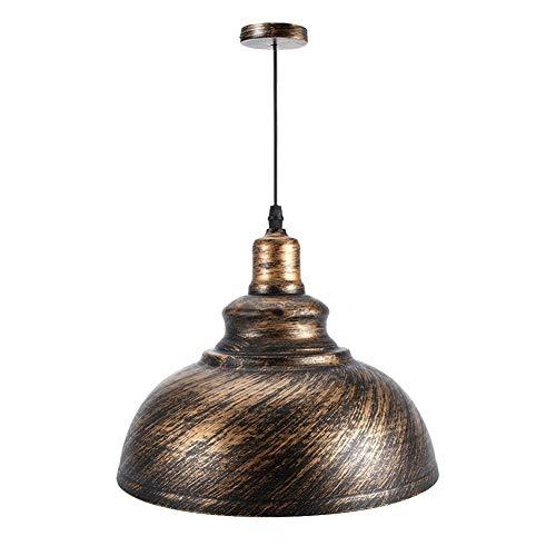 Hancend lámpara Colgante -E27 Lámparas de Techo de Metal Lámpara Colgante Lámpara Colgante Accesorio de Pantalla AC85-265(Color Bronce)