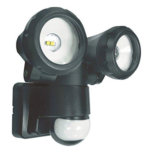 ELRO LT3505P Außenleuchte mit 2 LED-Schwenkköpfen - mit Bewegungsmelder - Reichweite bis zu 12 m und 180° Erfassungswinkel - 2 x 5W - 800LM - Schwarz - 15 x 17 x 17 cm