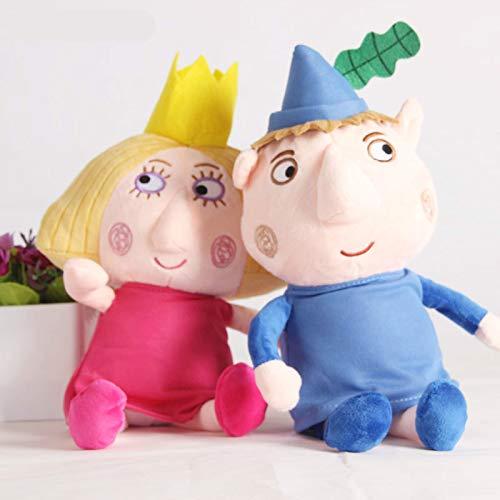 dingtian Juguete de Peluche 2pcs 30cm Ben Y Holly Plush Toys Cartoon Ben Holly Figuras Muñecas Niños Cumpleaños
