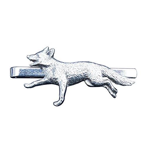 Krawattennadel Fuchs aus Zinn (Pewter) von Hand Gegossen