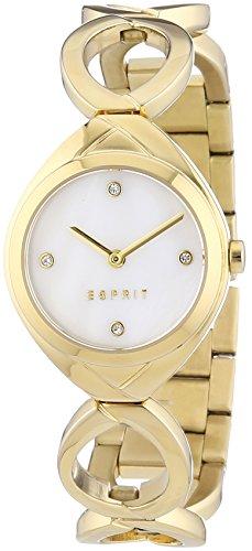 Esprit Damen-Armbanduhr XS Audrey Analog Quarz Edelstahl beschichtet ES108072002