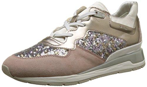 Geox D Shahira B, Zapatillas para Mujer, Beige (Antique Rose/Silver), 40 EU