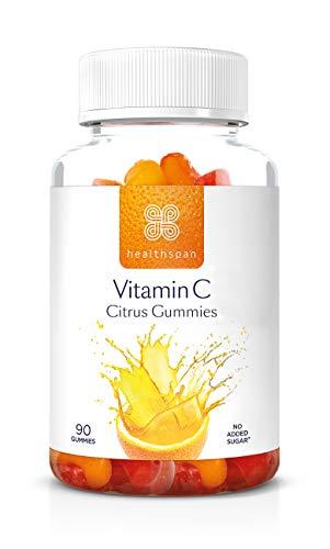 Vitamin C Citrus Gummies | Healthspan | Absorption of Iron | Boosts Immunity (90 Gummies)