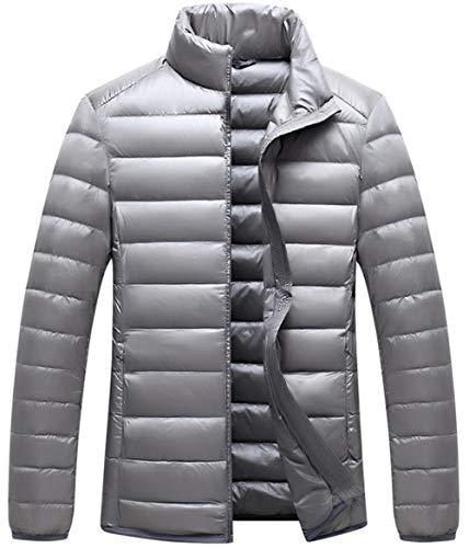 XYZJIA Daunenjacke, Baumwollmantel für Herren, Daunenjacke mit weißer Ente, warme Daunenjacke, kalte Jacke, graues_M