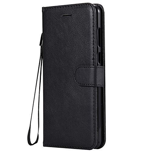 Hülle für Huawei Honor 7X Hülle Handyhülle [Standfunktion] [Kartenfach] Tasche Flip Hülle Cover Etui Schutzhülle lederhülle flip case für Huawei Honor 7X - DEKT050655 Schwarz
