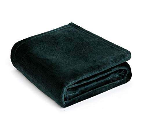 MSYOU Bettdecke, warm, flauschig, einfarbig, Samt-Decke für Sofa & Bett