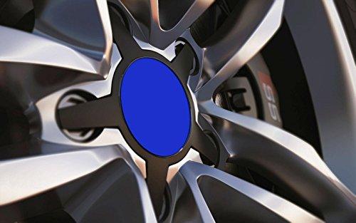 Standard ajustement universel 80 mm Centre de roue en alliage Cap badges, Bleu