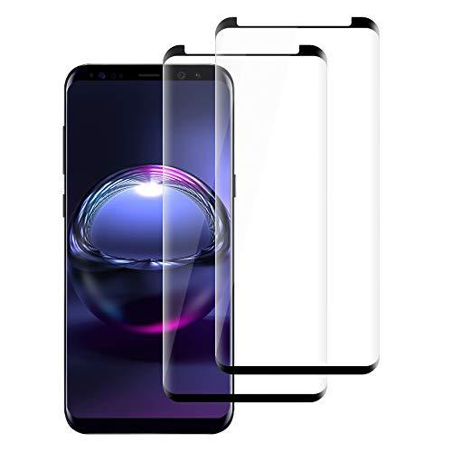 [2 Pack] Protector de Pantalla para Samsung Galaxy S8 Cristal Templado, [Ultra Transparente][Sin Burbujas] [9H Dureza][Resistente a Arañazos]HD Film Vidrio Templado Samsung Galaxy S8