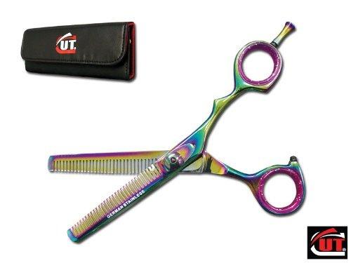 "6.25"" Titanium CUT Brand Pro Hair Thinning Shears Scissors German Steel 2107-TC"