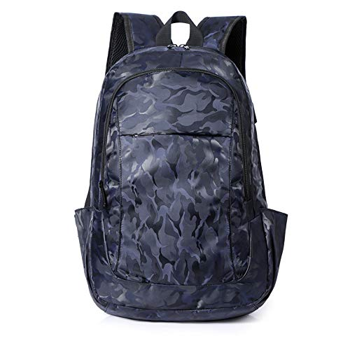 Travel Laptop Backpack,Camouflage Backpack 15 Inch Large Lightweight College High School Bag,With Usb Charging Port Water Resistant Backpack,Travel, Outdoors,blue