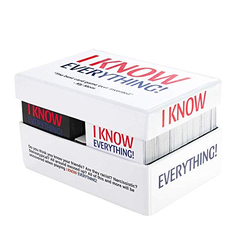 I Know Everything! - The Best Party Card Game for Adults, All Fun and Games Especially When You're Drinking, Perfect for Groups and Parties Adult Friends & Family 500 Cards + White Board Included