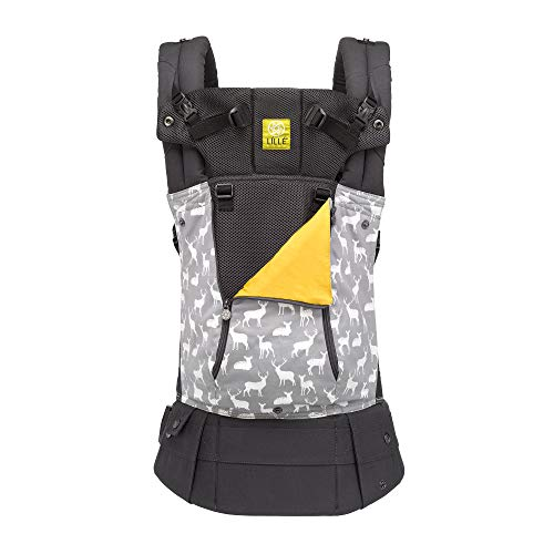 LÍLLÉbaby Complete All Seasons SIX-Position 360° Ergonomic Baby & Child Carrier, Oh Deer - Lumbar Support