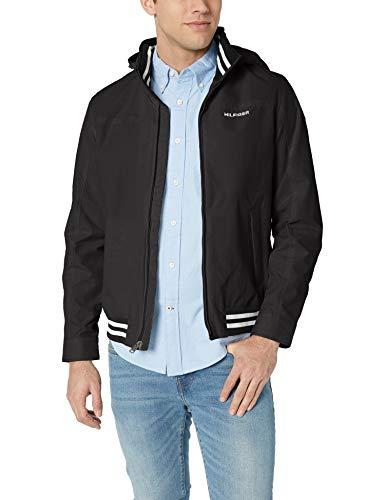 Tommy Hilfiger Men's Lightweight Waterproof Regatta Jacket, CS DEEP Knit Black, 2X-Large