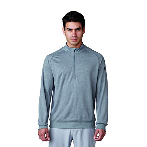 adidas Golf Club da uomo 1/2 Zip, Tmag Vista Grigio Heather, Large