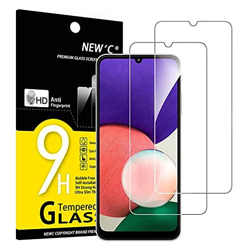 NEW C 2 Pezzi, Vetro Temperato per Samsung Galaxy A22 4G (Non per Samsung Galaxy A22 5G), Pellicola Prottetiva Anti Graffio, Anti-Impronte, Durezza 9H, 0,33mm Ultra Trasparente, Ultra Resistente