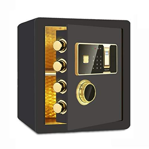 Résistance aux Chocs d'empreintes digitales Safe Verrouillage électronique de Verrouillage All Steel Alarm Corrosion LITING (Color : Black)