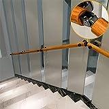 Liszh Pasamanos de Escaleras- 1 pie - 20 pies de pino antideslizante circular escalera Baranda, Barandilla Inicio Kinder Corredor contra la pared de ancianos Villa de construcción Loft niños, kit comp