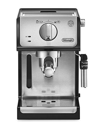 De'longhi ECP35.31 - Cafetera espresso, 1100w, capacidad 1,1l, café molido y monodosis para 2 tazas, negro y plata
