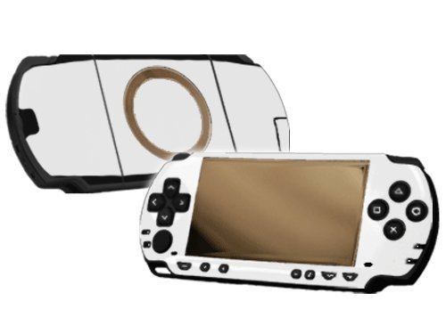 Winter White Vinyl Decal Faceplate Mod Skin Kit for Sony PlayStation Portable 1000 (PSP) Console by System Skins