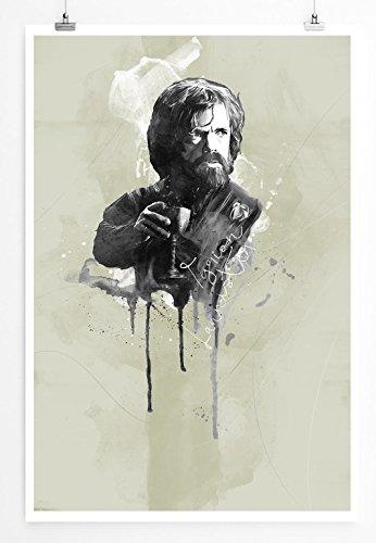 Tyrion Lannister 90x60cm Paul Sinus Art Splash Art Wandbild als Poster ohne Rahmen gerollt