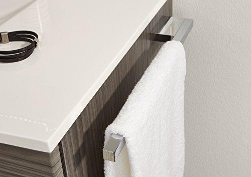 PURIS Handtuchhalter (PZ11241) / Chrom glänzend/Handtuchstange/zur Montage am Korpus