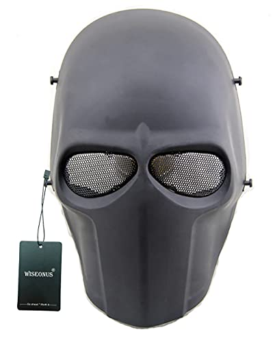 WISEONUS Tactical Airsoft Paintball CS Juego de Guerra Máscara Protectora Halloween Cosplay Máscaras Faciales Equipos