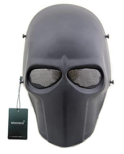 WISEONUS Tactical Airsoft Paintball CS Juego de Guerra Mscara Protectora Halloween Cosplay Mscaras Faciales Equipos
