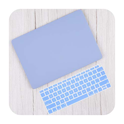 Matte Plastic Hard Shell Cover for MacBook Air 13 Inch A2337 A2179 2020 Pro 13 16 Touch Bar A2141 A2338 A2289 Case + Keyboard Skin-Serenity Blue-2020 Air 1 3 M1 A2337