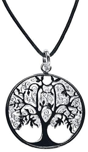 etNox magic and mystic Lebensbaum Halskette silberfarben