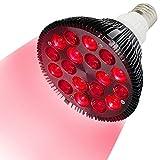 Rote Lichttherapie Lampe,36 W Rotlichtlampe 18 LED Infrarot Lichttherapiegerät, Nah-Infrarot-Combo rote Glühbirne für Spa, Hautpflege, Muskel- und Gelenkschmerzen Muskel- und Gelenkschmerzen