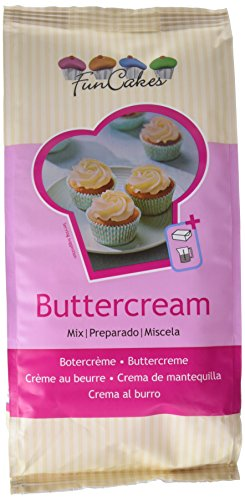 FunCakes Preparado Crema de Mantequilla Buttercream, Sabor Mantequilla, 1k, Halal,