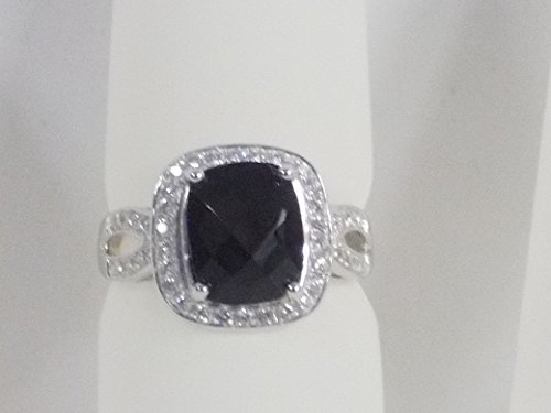 Avon Sterling Silver 3-ct. Genuine Onyx Ring - Size 6