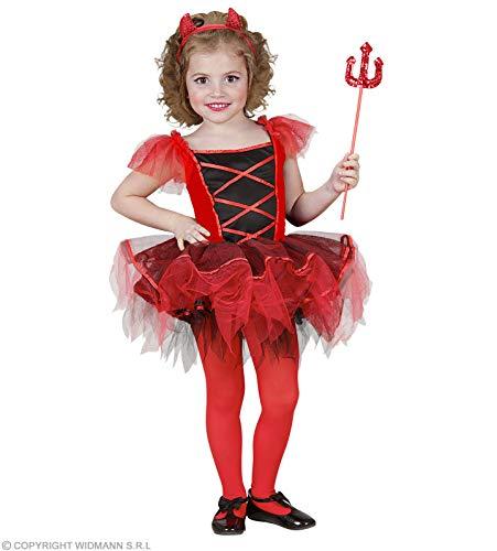 WIDMANN Generique - Déguisement diablesse Tutu Fille Halloween