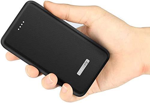 Vancely Powerbank 20000mAh,【Latest Cellular Design- Ultra höhe Kapazität】 Externer Akku Power Pack Ladegerät Akkupack 2.4A 2-Port Ausgang Power Bank für iPhone,iPad,Samsung,Huawei und mehr - Schwarz