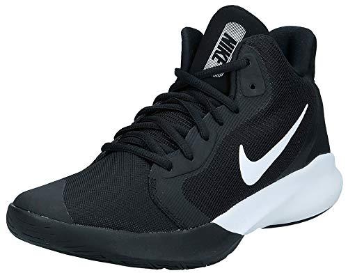 Nike Women's Precision III Basketball Shoe, Black/White, 10