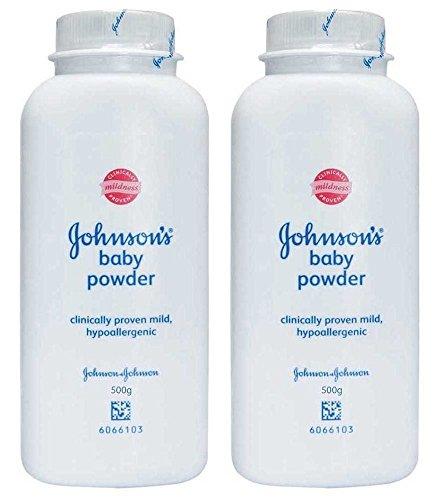 Johnson's Baby Powder, Original, 17.6 Oz / 500 G (Pack of 2)