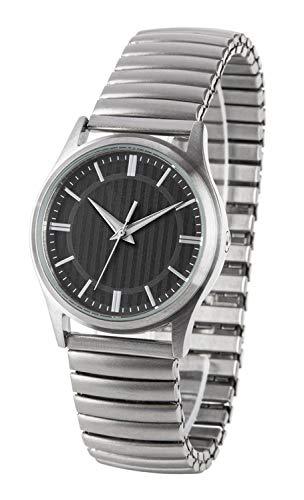 Funk-Armbanduhr Damen, Edelstahl, mit Zug-Edelstahl-Armband